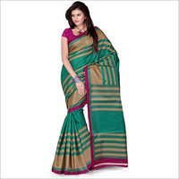 Green Art Crepe Saree