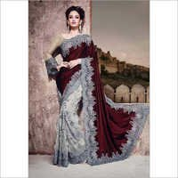 Maroon Wedding Saree