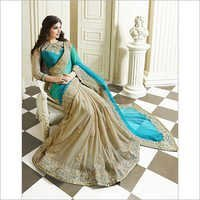 Blue Wedding Saree