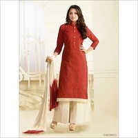 Shrewd Rust Cotton Churidar Suit
