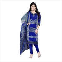 Blue Colour Synthetic Chudidar Dress Materials
