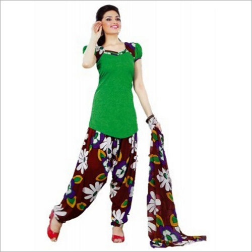 Synthetic Chudidar Patiyala Dress Materials