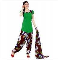 Synthetic Chudidar Patiyala Dress Materials