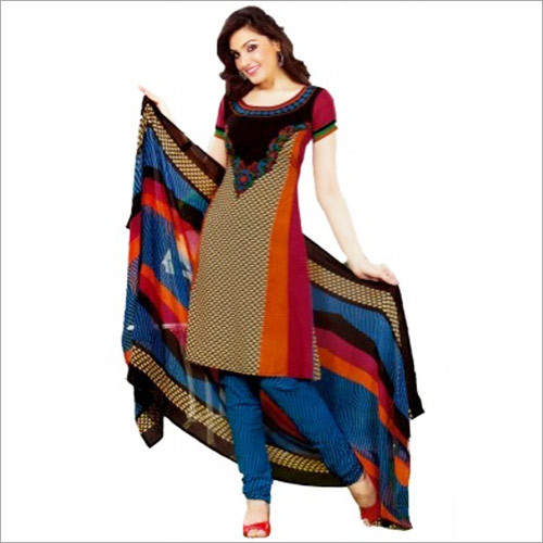 Multi Colour Synthetic Chudidar Dress Materials