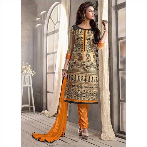 Charismatic Chanderi Cotton Pant Suit