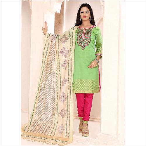 Precipitant Sea Green Cotton Churidar Suit