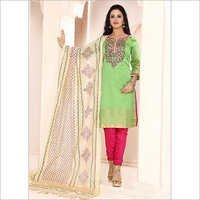 Precipitant Sea Green Cotton Churidar Suit