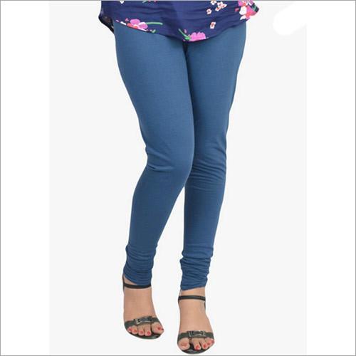 Blue Solid Legging