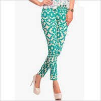 Green Multicoloured Printed Legging
