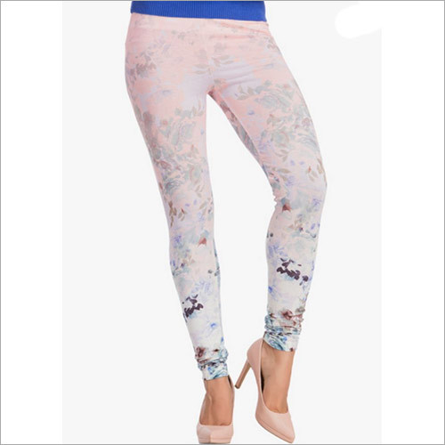Peach Printed Leggings