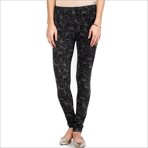 Printed Black Legging