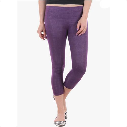 Purple Solid Leggings