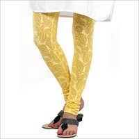 Yellow Design Printed Legging