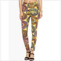 Yellow High Printed Legging