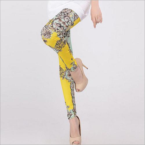 Yellow Printed Legging
