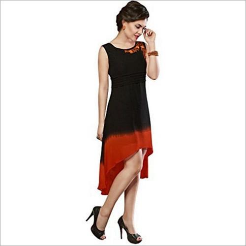 Black Designer Party Wear Georgette Kurti