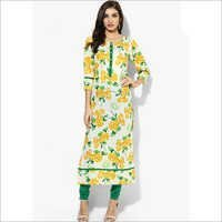 Multicoloured Printed Cotton Kurta