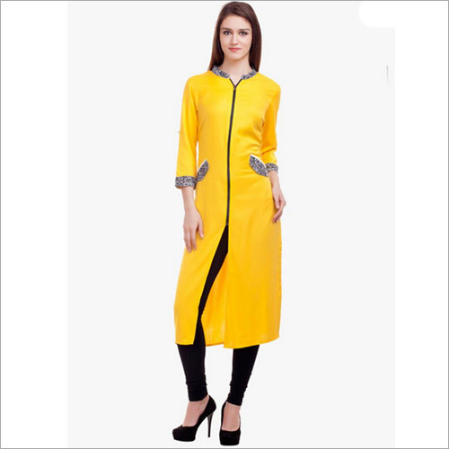 Yellow Solid Kurta
