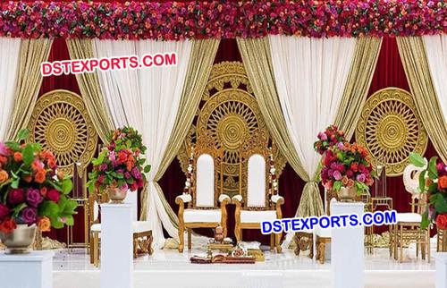 Indian Wedding Round Panel Stage
