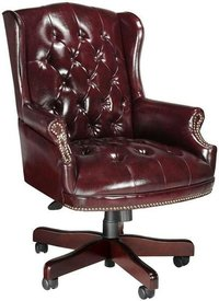 Hand carved Leather Chesterfield Chair