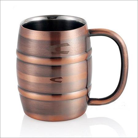 Copper Plated Steel Coffee Mug