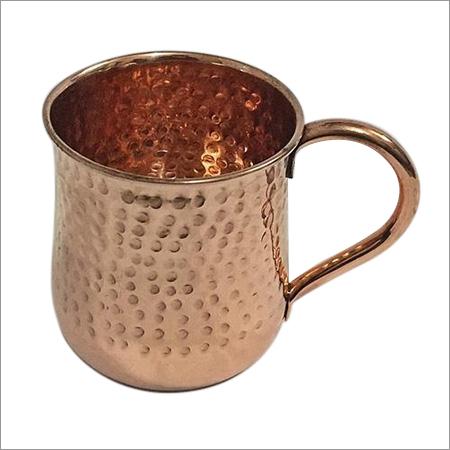 Solid Copper Hammered Mug