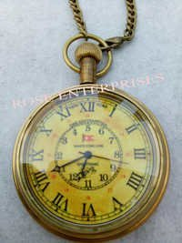 White Star Line Brass Pocket Watch
