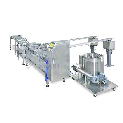 Double Lane Biscuit Sandwiching Machine With Row Multiplier