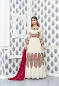 Red stylish anarkali suits online salwar suits