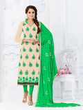 Pink stylish casual wear cotton salwar kameez