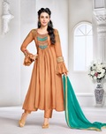 Embroidered anarkali salwar suit collection