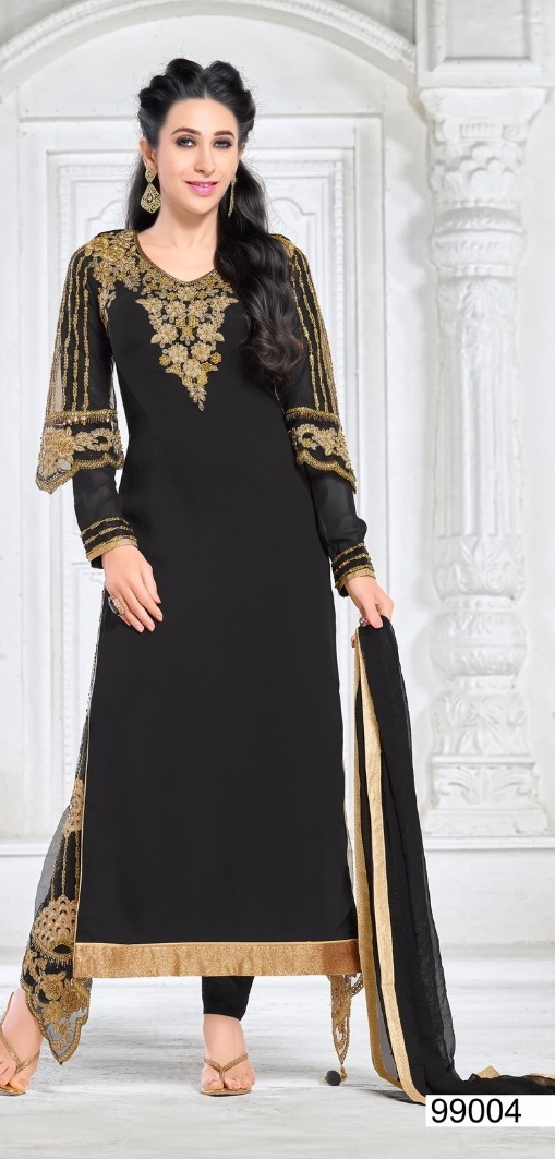 Embroidered anarkali salwar suit collection