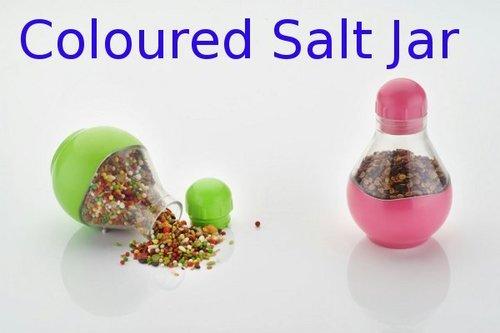 Coloured Salt Jar