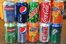 Coca~Cola, Diet-Coke, Coke-Zero, Fanta-and-Sprite Soft Drinks Cans and Bottles