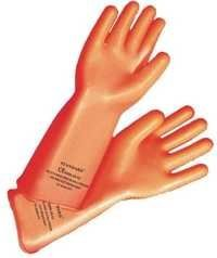 Orange Rubber Hand Gloves