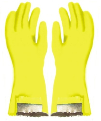 PVC Hand Gloves With Cotton Fabric Line