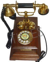 Antique Wooden Rotary Phone