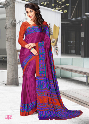 Digitally Printed Saree