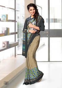 Crepe Silk Uniform Saree