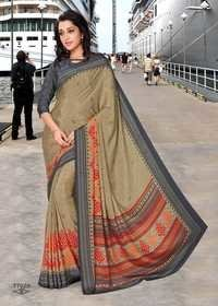 Crepe Uniform Saree