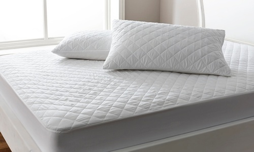 White Quilted Pillow Protector