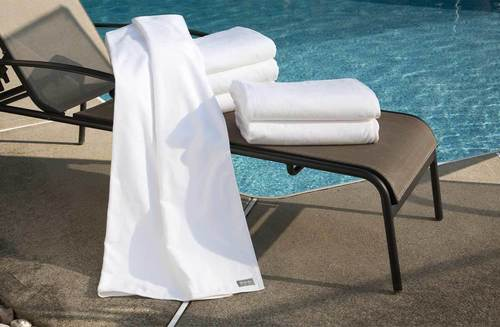 Pure white Pool  towel