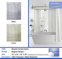 100% Polyster shower curtain
