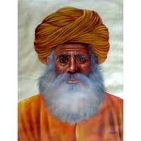 Rajasthani Man Painting