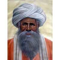 White Turban Man Painting