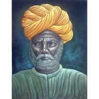 Yellow Turban Man Painting