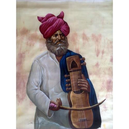 Sarangi Man Painting