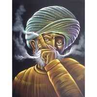 Man Smoking Pipe Painting