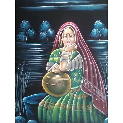 Rajasthani Woman Painting