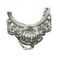 White Stone Beaded Choker Necklace